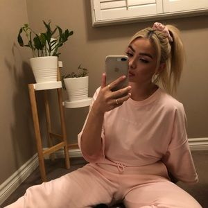 Baby Pink Sweatpants Missguided